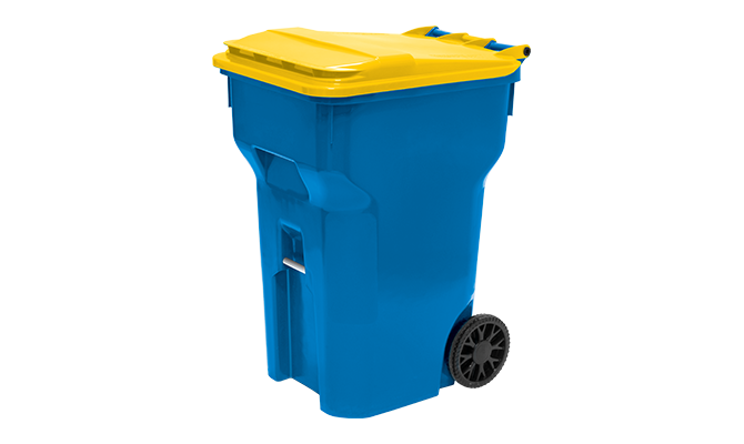 Blue Cascade Cart with Yellow Lid